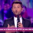 """Christophe Beaugrand lors de l'Hebdo - """"Secret Story 10"""" sur NT1. """"Hebdo"""" du 15 septembre 2016."""