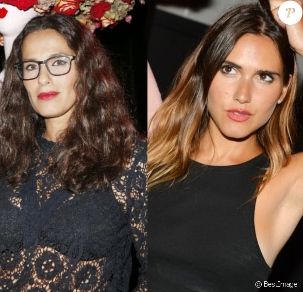 Elisa Tovati et Joyce Jonathan à la soirée Chantal Thomass x Damart le 15 septembre 2016.