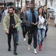 """Exclusif - Djibril Cissé et sa compagne Marie-Cécile Lenziniarrivent au concert de Justin Bieber à l'AccorHotels Arena à Paris dans le cadre de sa tournée """"Purpose World Tour"""", le 20 septembre 2016."""