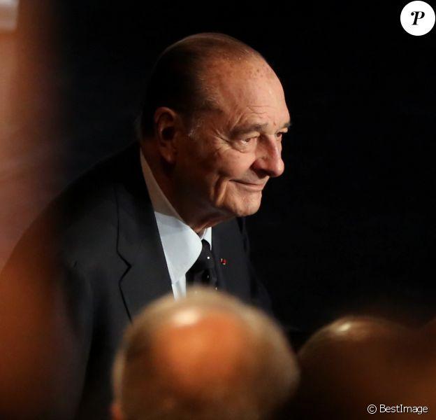 Jacques Chirac - Cérémonie de remise du Prix pour la prévention des conflits de la Fondation Chirac au musee du quai Branly. Paris, le 21 novembre 2013