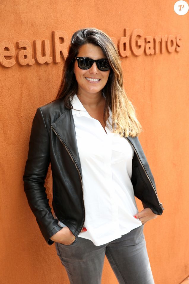 Karine Ferri lors du Tournoi de Roland-Garros (les Internationaux de France de tennis) à Paris, le 27 mai 2016. © Cyril Moreau/Bestimage