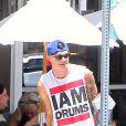 Paris Jackson déjeune avec son compagnon Michael Snoody à Los Angeles, le 9 juillet 2016