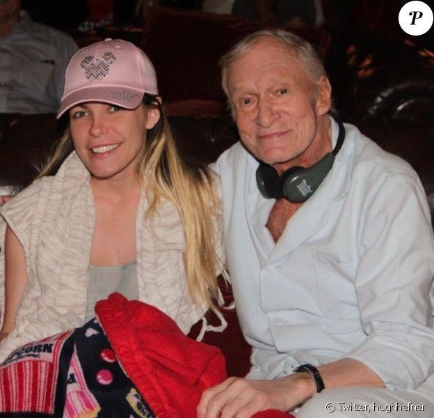Hugh Hefner publie une photo avec sa femme Crystal Harris sur sa page Twitter, le 30 septembre 2016
