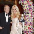 Hugh Hefner (86 ans), patron de Playboy a epouse Crystal Harris (26 ans) dans le cadre d'une ceremonie intime à la celebre Playboy Mansion a Los Angeles le 31 Decembre 2012.
