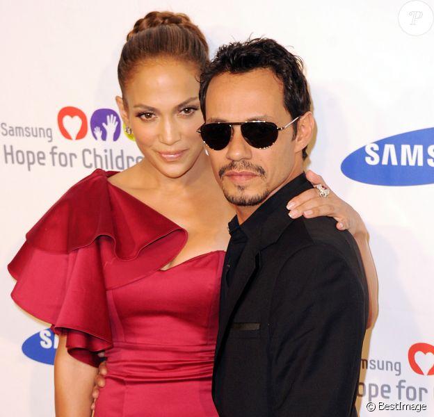 """Jennifer Lopez et Marc Anthony à la soirée de charité """"Hope For Children"""" à New-York le 7 juin 2011."""