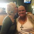 Photo de Paris Jackson et sa mère Debbie Rowe publiée le 7 octobre 2016.