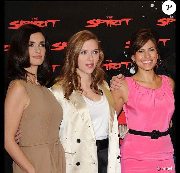 Paz Vega, Scarlett Johansson et Eva Mendes