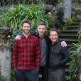 """Gary Barlow, Howard Donald, Mark Owen lors du photocall du film """"Kingsman Secret Service"""" à Rome en Italie le 2 février 2015."""