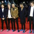 Louis Tomlinson, Niall Horan, Liam Payne, Zayn Malik und Harry Styles (One Direction) lors de la 15eme edition des NRJ Music Awards a Cannes. Le 14 decembre 2013