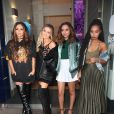 Jesy Nelson, Perrie Edwards, Jade Thirlwall, Leigh-Anne Pinnock des Little Mix à la sortie des studios de la BBC Radio 1 à Londres, le 47 octobre 2016