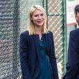 """Claire Danes et Murray Abraham - Claire Danes sur le tournage de """"Homeland"""" dans le quartier de Brooklyn à New York, le 23 septembre 2016"""