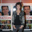 """Linda Hardy à l'avant-première du film """"L'invitation"""" au cinéma UGC George V à Paris, le 17 octobre 2016."""