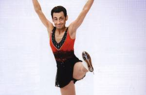 PHOTOS : Nicolas Sarkozy... superbe en patineuse artistique !