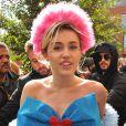 Miley Cyrus s'est rendue à l'université George Mason à Fairfax pour discuter avec les étudiants et les inciter à voter aux élections présidentielles US à Fairfax le 22 octobre 2016