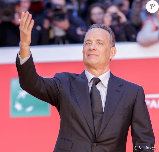 Tom Hanks sur le tapis rouge lors du 11ème Festival du Film de Rome. Le 13 octobre 2016