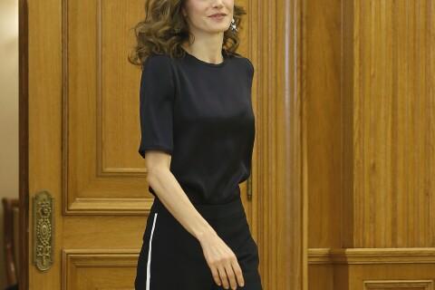 """Letizia d'Espagne : """"Sporty Queen"""" décontractée au palais de la Zarzuela"""