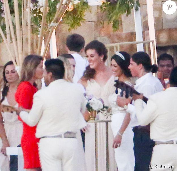 Exclusif - Michael Phelps s'est marié avec Nicole Johnson dans le plus grand secret le 13 juin 2016, ils refont une cérémonie de mariage avec des amis et la famille à Cabo, Mexique, le 29 octobre 2016.