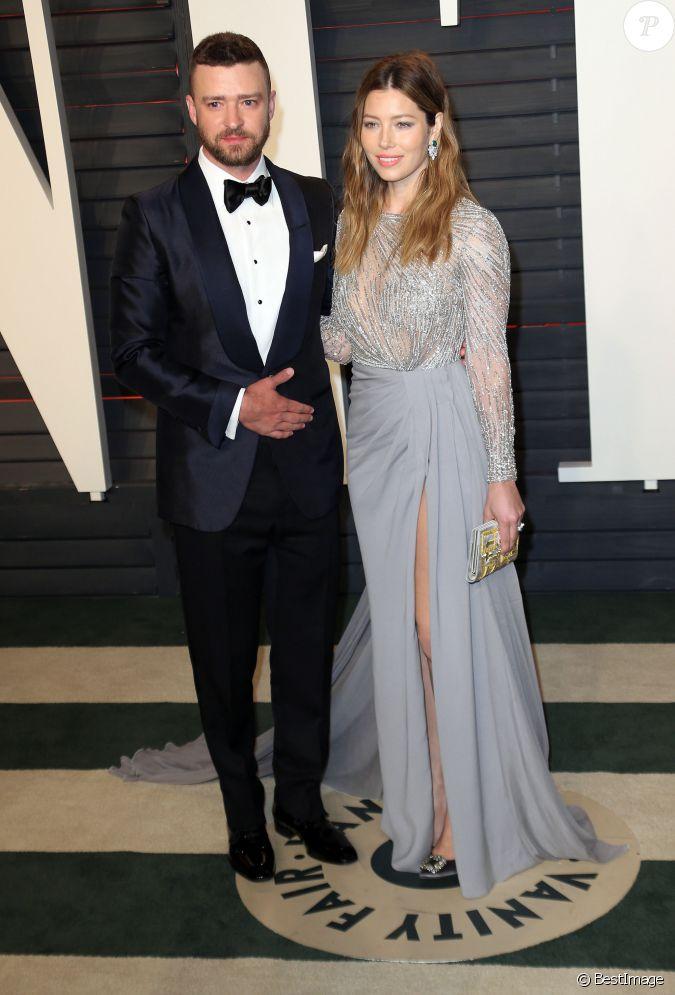 Justin timberlake et sa femme jessica biel people la soir e vanity fair oscar party apr s la - Raphael de casabianca et sa femme ...