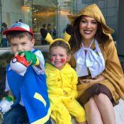 Alyssa Milano : Ravissante bête à poils avec ses enfants pour fêter Halloween