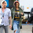 Rihanna sur le tournage de 'Ocean's 8' à New York, le 2 novembre 2016.