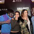 """Hedia et Karima Charni à la soirée de lancement du jeux """"Call of Duty : Infinite Warfare"""" à Paris le 3 novembre 2016. © Rachid Bellak"""