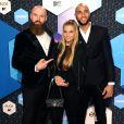 Joffrey Breeuwer, Gaby Blaaser et Edson Da Garca aux MTV Europe Music Awards 2016 au Rotterdam Ahoy Arena, à Rotterdam, aux Pays-Bas le 6 novembre 2016