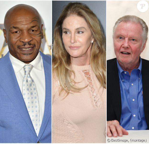 Mike Tyson, Caitlyn Jenner et Jon Voight - trois soutiens du nouveau président Donald Trump, élu le 9 novembre 2016.
