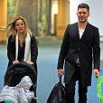 Michael Bublé, son épouse Luisana et leur fils Noah à Vancouver, le 20 novembre 2015.