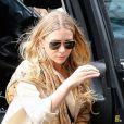 Ashley Olsen sort d'une voiture à New York, le 8 septembre 2014.