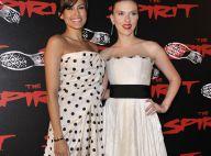 REPORTAGE PHOTOS : Eva Mendes et Scarlett Johansson absolument ma-gni-fiques... ont mis le feu aux Champs-Elysées !