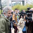 Stéphane Guillon - Rassemblement devant les locaux d'iTÉLÉ à Boulogne-Billancourt au neuvième jour de grève de la société des journalistes. Le 25 octobre 2016.