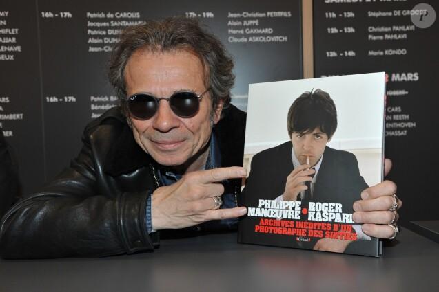 Philippe Manoeuvre au Salon du Livre à Paris le 21 mars 2015