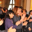 Carla Bruni félicite l'homme de la paix 2008, Bono