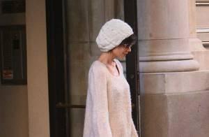 PHOTOS : Katie Holmes super look, mais... elle a piqué le bonnet de David Beckham !