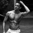 Maxime Dereymez en slip sur Instagram le 16 novembre 2016.