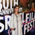 Natalie Portman enceinte lors du Festival du Festival du Cinéma Israélien à Los Angeles, le 9 novembre 2016