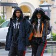 Kylie Jenner et Tyga à Calabasas, le 26 novembre 2016.