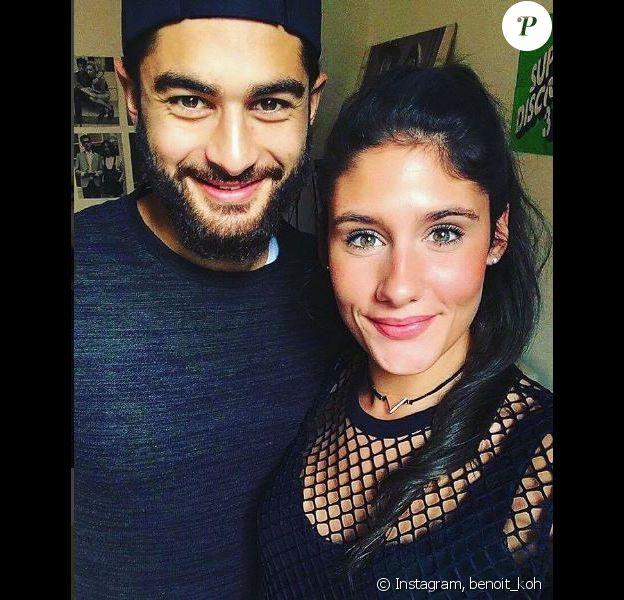 """Benoît et Jesta de """"Koh-Lanta, L'île au trésor"""" en couple, sur Instagram, octobre 2016"""