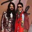 Alessandro Michele et Jared Leto au Fashion Awards 2016 au Royal Albert Hall à Londres, Royaume Uni, le 5 décembre 2016.