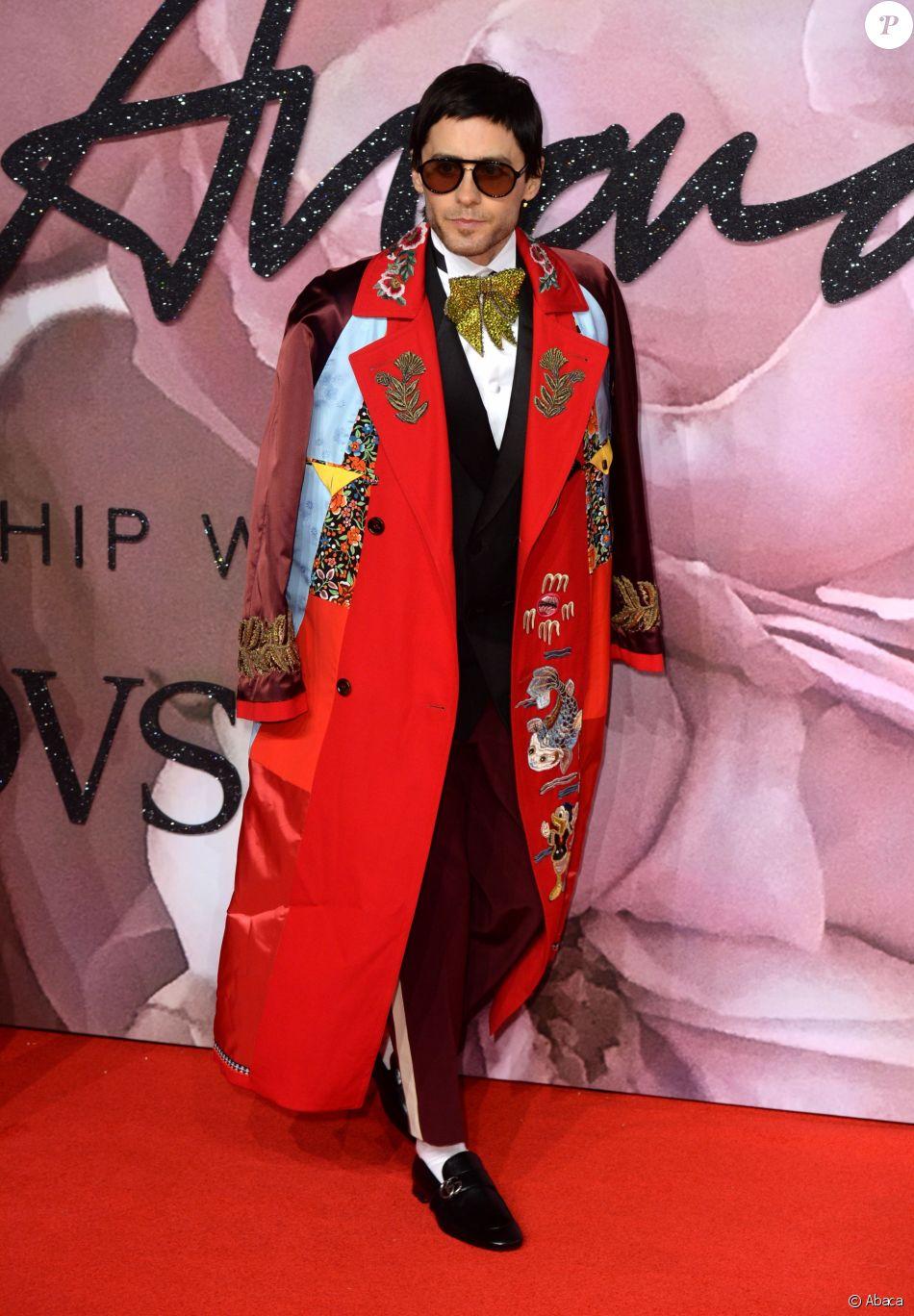 Jared Leto au Fashion Awards 2016 au Royal Albert Hall à Londres, le 5 décembre 2016