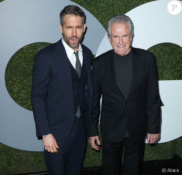 Ryan Reynolds et Warren Beatty - Soirée des GQ Men of The Year au Chateau Marmont. West Hollywood, Los Angeles, le 8 décembre 2016.