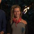"""Denis Brogniart et Candice - Finale de """"Koh-Lanta, L'île au trésor"""". Sur TF1, le 9 décembre 2016."""