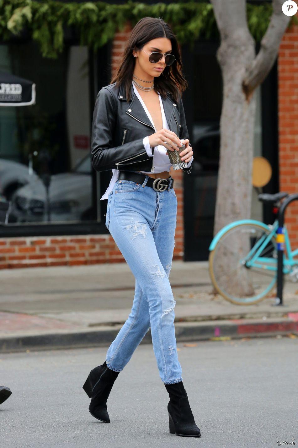 Kendall Jenner A Los Angeles Porte Une Veste En Cuir Laer Un
