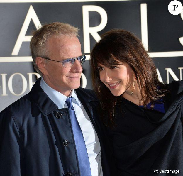 Sophie Marceau et Christophe Lambert au Palais de Tokyo à Paris, le 21 janvier 2014.