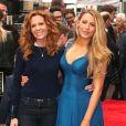 Robyn Lively et sa soeur Blake Lively - Ryan Reynolds reçoit son étoile sur le Walk of Fame à Hollywood, le 15 décembre 2016