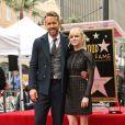 Ryan Reynolds et Anna Faris - Ryan Reynolds reçoit son étoile sur le Walk of Fame à Hollywood, le 15 décembre 2016