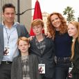 Robyn Lively avec son mari Bart Johnson et leurs enfants Baylen, Kate et Wyatt Johnson - Ryan Reynolds reçoit son étoile sur le Walk of Fame à Hollywood, le 15 décembre 2016
