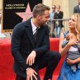 Ryan Reynolds avec sa femme Blake Lively et leur fille - Ryan Reynolds reçoit son étoile sur le Walk of Fame à Hollywood, le 15 décembre 2016