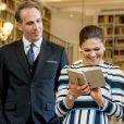 La princesse Victoria et le prince Daniel de Suède visitent l'institut suédois à Rome, le 16 décembre 2016, lors de leur déplacement à Rome.16/12/2016 - Rome