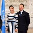 La princesse Victoria et le prince Daniel de Suède visitent l'Organisation des Nations unies pour l'alimentation et l'agriculture à Rome, le 16 décembre 2016.15/12/2016 - Rome